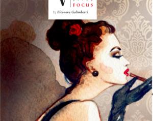 Dipinto di donna con sigaretta